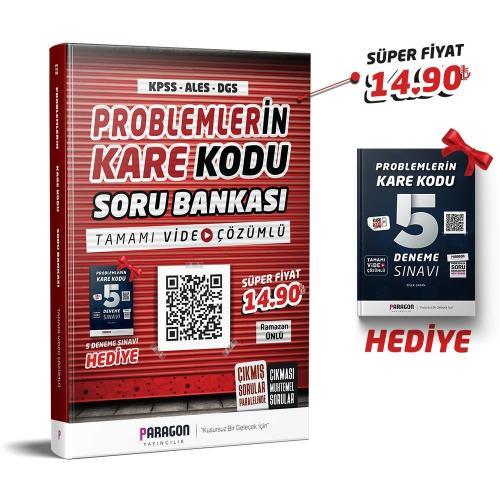 Paragon Yayıncılık KPSS ALES DGS Problemlerin Karekodu Tamamı Video Çözümlü Soru Bankası + 5 Deneme Hediye