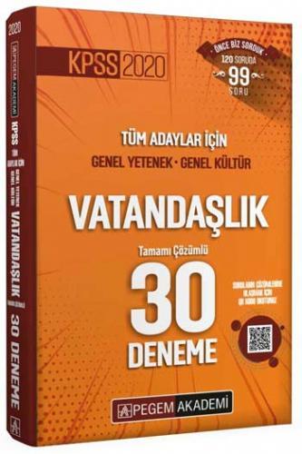 Pegem Yayınları 2020 KPSS Vatandaşlık Tamamı Çözümlü 30 Deneme