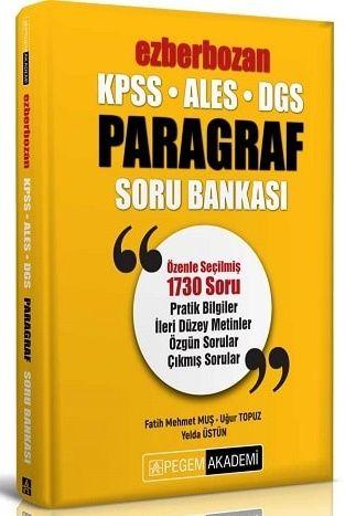 Pegem Yayınları 2020 KPSS ALES DGS Ezberbozan Paragraf Soru Bankası Fa