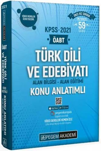Pegem Yayınları 2021 ÖABT Türk Dili ve Edebiyatı Video Destekli Konu