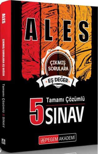 Pegem Yayınları ALES Tamamı Çözümlü 5 Sınav Komisyon