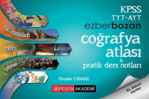 Pegem Yayınları KPSS TYT AYT Coğrafya Atlası ve Pratik Ders Notları Ön