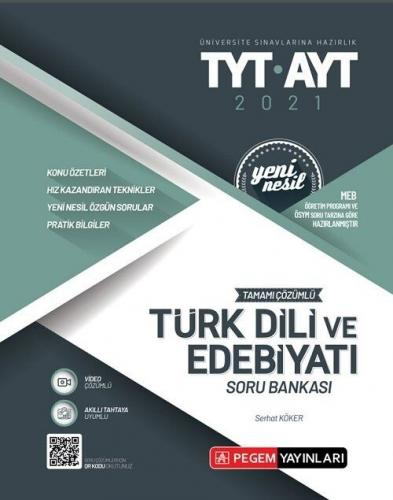 Pegem Yayınları TYT AYT Türk Dili ve Edebiyatı Tamamı Çözümlü Soru B