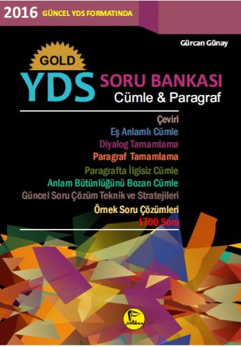 Pelikan Gold YDS Soru Bankası Cümle Paragraf - Gürcan Günay