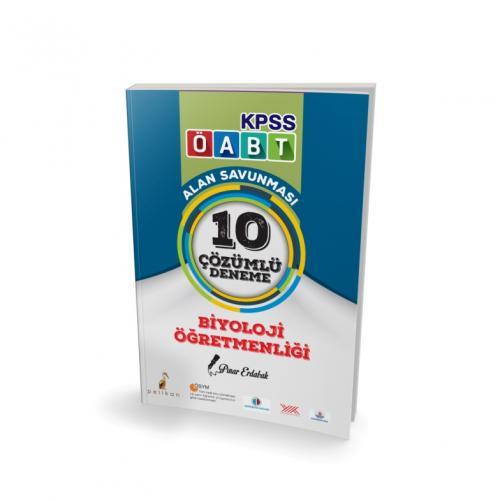 Pelikan KPSS ÖABT Biyoloji Öğretmenliği Alan Savunması 10 Çözümlü Deneme 2018