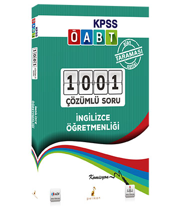 Pelikan KPSS ÖABT İngilizce Öğretmenliği 1001 Çözümlü Soru 2018