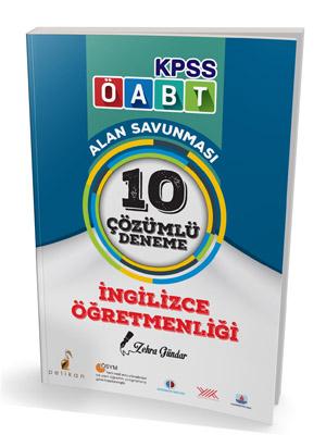 Pelikan KPSS ÖABT İngilizce Öğretmenliği Alan Savunması 10 Çözümlü Deneme 2018
