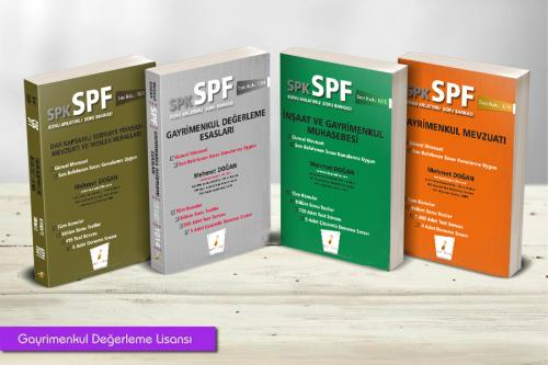 Pelikan SPK - SPF Gayrimenkul Değerleme Lisansı (4 Kitap)
