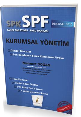 Pelikan SPK - SPF Kurumsal Yönetim Konu Anlatımlı Soru Bankası 1018