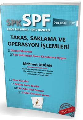 Pelikan SPK - SPF Takas, Saklama ve Operasyon İşlemleri Konu Anlatımlı Soru Bankası 1012