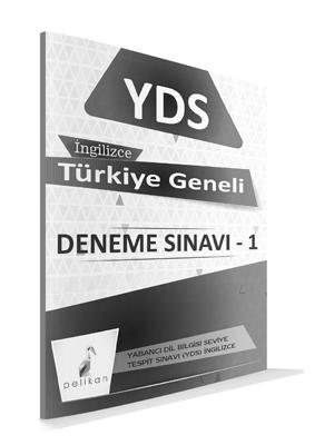 Pelikan Türkiye Geneli YDS Deneme Sınavı - Çözüm Kitapçıklı %45 indiri
