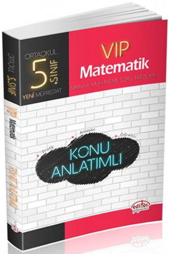 Editör 5. Sınıf VIP Matematik Konu Anlatımlı