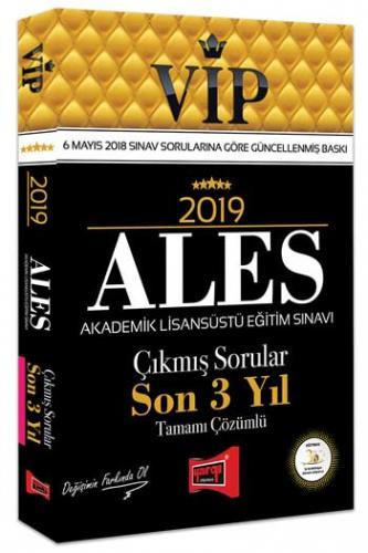 Yargı ALES VIP Tamamı Çözümlü Son 3 Yıl Çıkmış Sorular