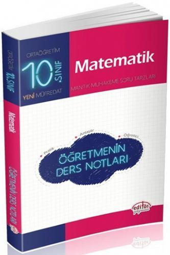 Editör 10. Sınıf Matematik Öğretmenin Ders Notları