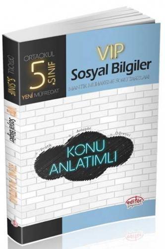 Editör 5. Sınıf VIP Sosyal Bilgiler Konu Anlatımlı