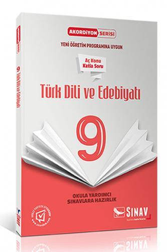 Sınav 9. Sınıf Türk Dili ve Edebiyatı Akordiyon Kitap
