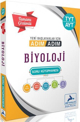 PRF Yayınları TYT AYT Biyoloji Adım Adım Tamamı Çözümlü Soru Kütüphane