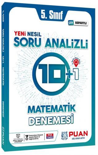Puan Yayınları 5. Sınıf Matematik Soru Analizli 10+1 Deneme