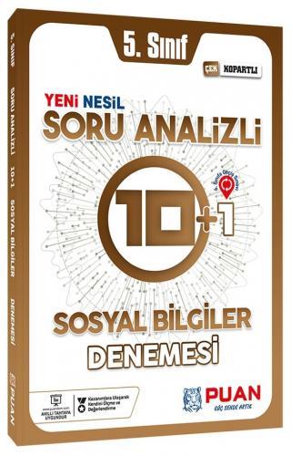Puan Yayınları 5. Sınıf Sosyal Bilgiler Soru Analizli 10+1 Deneme %15