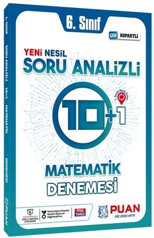 Puan Yayınları 6. Sınıf Matematik Soru Analizli 10+1 Deneme