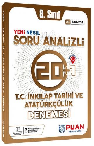 Puan Yayınları 8. Sınıf LGS T.C. İnkılap Tarihi ve Atatürkçülük Soru Analizli 20+1 Deneme