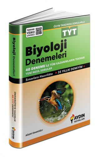 Aydın Yayınları TYT Biyoloji 40 Deneme Video Çözümlü