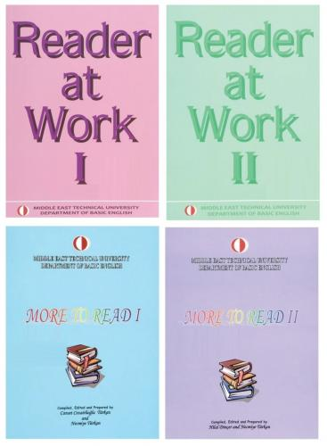 ODTÜ Reader at Work 1-2 + More To Read 1-2 Set 4 Kitap ODTÜ Yayıncılık