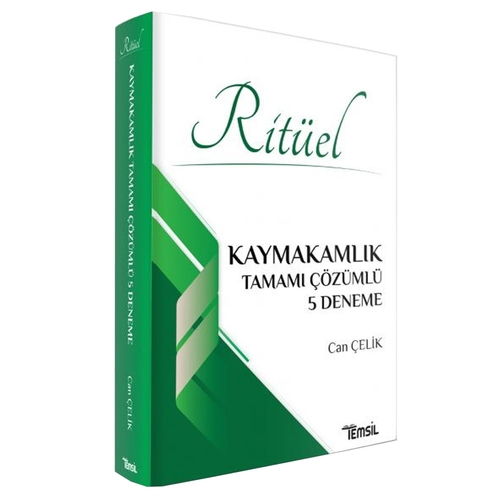 Ritüel Kaymakamlık Tamamı Çözümlü 5 Deneme  Temsil Kitap Yayınları