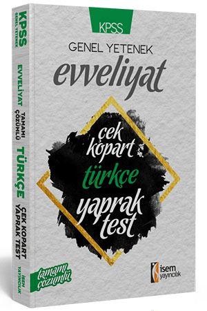 İsem KPSS Evveliyat Türkçe Çek Kopar Yaprak Test 2019