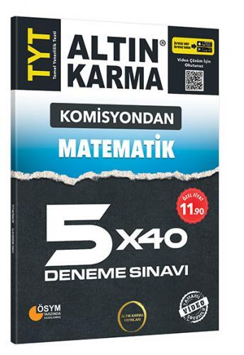 Altın Karma Komisyondan TYT Matematik 5x40 Deneme Sınavı
