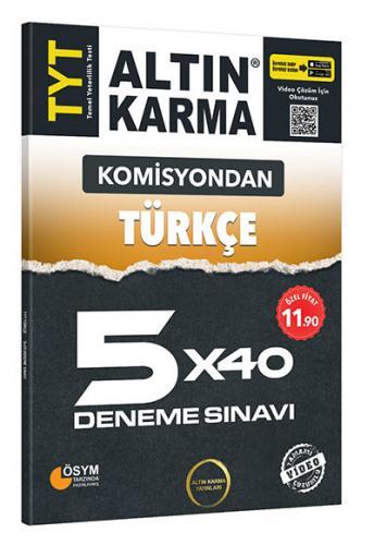 Altın Karma Komisyondan TYT Türkçe 5x40 Deneme Sınavı