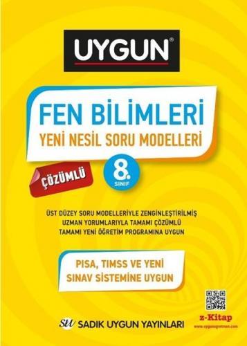 Sadık Uygun Yayınları 8. Sınıf Fen Bilimleri Yeni Nesil Soru Modelleri