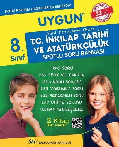 Sadık Uygun Yayınları 8. Sınıf T.C. İnkılap Tarihi ve Atatürkçülük Spotlu Soru Bankası