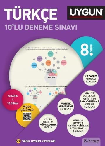 Sadık Uygun Yayınları 8. Sınıf Türkçe 10 lu Deneme Sınavı