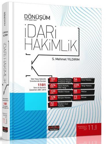 Savaş Yayınları Dönüşüm İdari Hakimlik Soru Bankası Mehmet Yıldırım