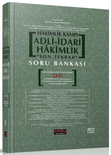 Hakimlik Kampı Adli İdari Hakimlik Son Tekrar Soru Bankası Ahmet Nohut