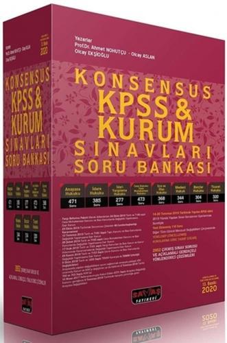Konsensus KPSS ve Kurum Sınavları Hukuk Soru Bankası 2020