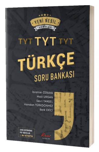 KRN Yayınları TYT Türkçe Soru Bankası Komisyon