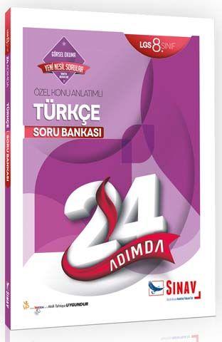 Sınav Yayınları 8. Sınıf LGS Türkçe 24 Adımda Özel Konu Anlatımlı Soru Bankası