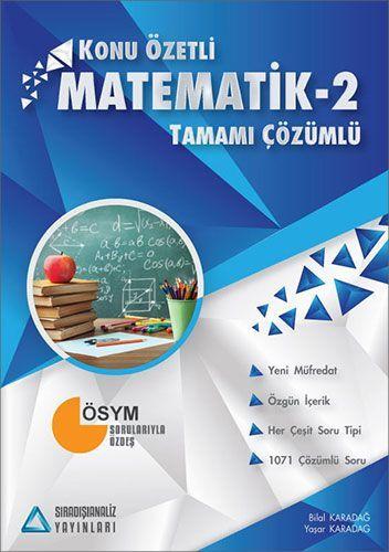Sıradışı Analiz Konu Özetli Matematik 2 Tamamı Çözümlü