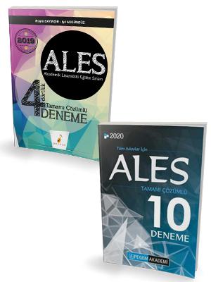 Pelikan ALES 4 Dörtlük Deneme + Pegem ALES 10 Deneme Seti %44 indiriml