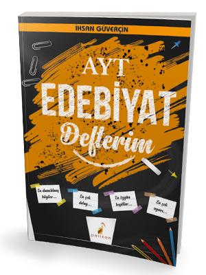 Pelikan Yayınları AYT Edebiyat Defterim %45 indirimli İhsan Güverçin