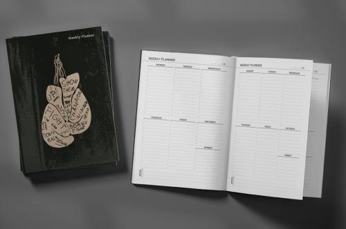 Motivational Boxing Poster Weekly Planner & Notebook