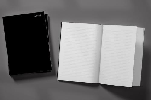 Black Doberman Dog on a Black Background Weekly Planner & Notebook