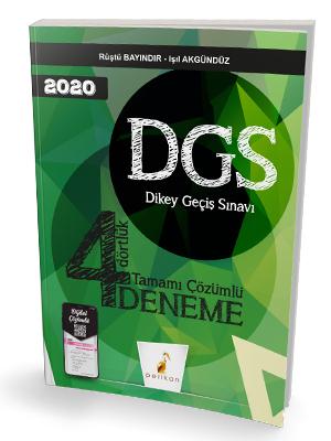 Pelikan Yayınları 2020 DGS 4 Dörtlük Tamamı Dijital Çözümlü Deneme Sı