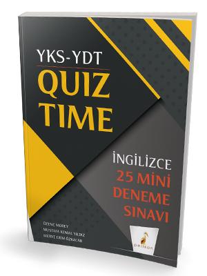 YKS YDT İngilizce Quiz Time 25 Mini Deneme Özenç Morey