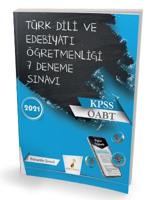 Pelikan Yayınları 2021 ÖABT Türk Dili Edebiyatı Öğretmenliği Dijital Ç