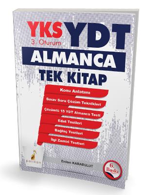 YKS 3.Oturum YDT Almanca Tek Kitap