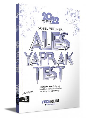 Yediiklim Yayınları 2022 Ales Sözel Yetenek Çek Kopart Yaprak Test Kom
