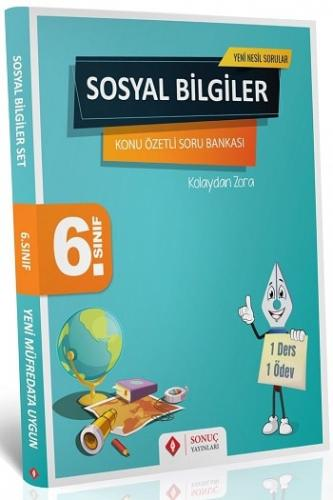 Sonuç Yayınları 6. Sınıf Sosyal Bilgiler Kazanım Merkezli Soru Bankası Seti